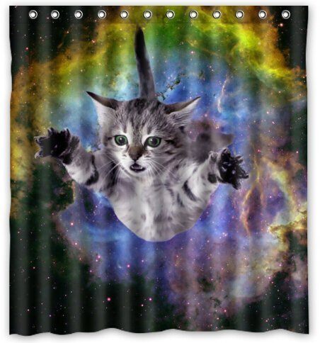 Space Cat Water-Proof Polyester Fabric (66