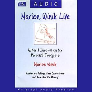 Marion Winik Live audiobook cover art