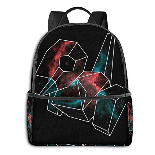 IUBBKI Schwarzer Seitenrucksack Lässige Tagesrucksäcke Cosmic Porygon With White Outline Student School Bag School Cycling Leisure Travel Camping Outdoor Backpack