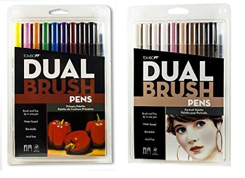 Tombow Dual Brush Pen, Primary Colors e Portrait Colors