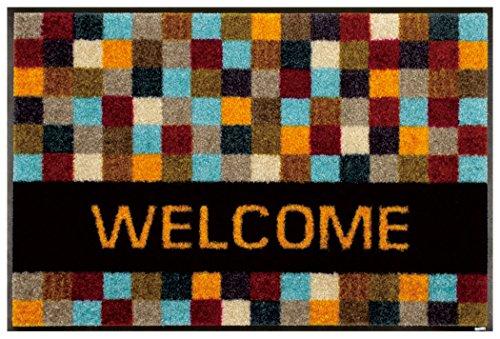 クリーンテックスジャパン A011A Quadratissimo Welcome 50×75cm フロアマット 玄関・フロアマット