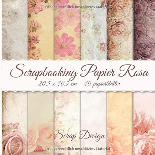 Scrapbooking Papier Rosa 20,5 x 20,5 cm papierblätter