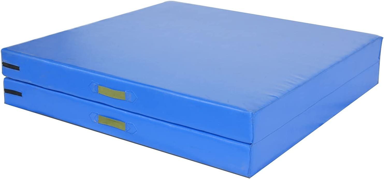 Ranking TOP4 Exercise Mat Blue Award Foldable Multifunctio Tumbling Gymnastics