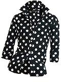 ドレスシャツ メンズ ドットシャツ 7分袖シャツ レギュラーカラー 日本製 804032 ブラック 7分袖-L
