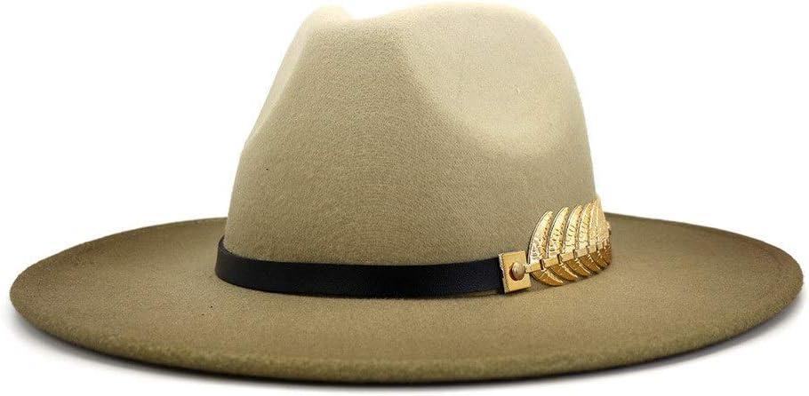 No-branded Painted Wool Polyester Hat Ladies Autumn Winter Fedora Hat Felt Hat Couple Hat Men's Fedora Hat ZRZZUS (Color : 4, Size : 59-60cm)