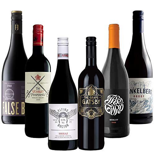 旨味コクありブドウで造られた南アフリカ産ユニークラベル赤ワイン6本セット (赤750mlx6) [南アフリカ/Amazon.co.jp限定/winery direct]