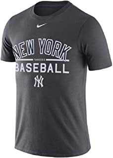 Nike Men's New York Yankees Practice T-Shirt Anthracite Gray