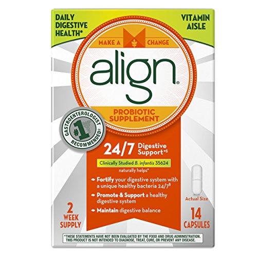 Align Probiotic Supplement, 24/7 Digestive Support with Bifantis, 14 Capsules