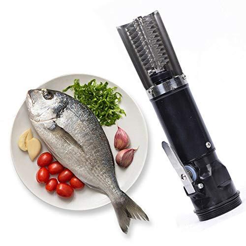 TFCFL Elektrischer Fischschupper Fische Schuppen Scaler Entferner Reinigungswerkzeug, 6 Seiten der Klinge,Nutzungszeit 3-4H