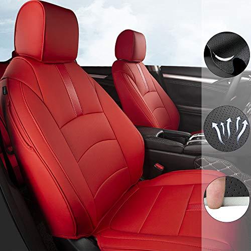 Custom Full Set Seat Covers for Volkswagen Arteon/Atlas/Beetle/Golf/Jetta/Passat Variant/Polo GTI/T6/Tiguan/Tuareg Leather Car Seat Cushion Protector Red