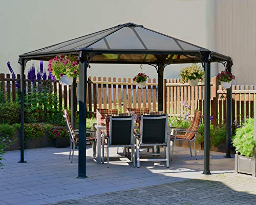 Palram Garden Gazebo for Robust Structure Year-Round Use, 450 x 390,...