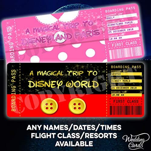 Personalisierte Flugkarte, Bordpass, Überraschungsreise