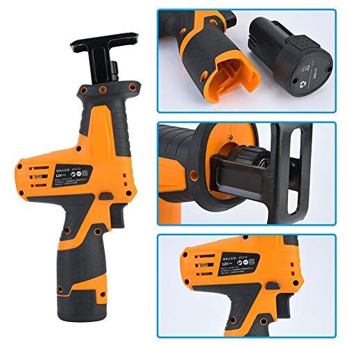 Cordless Reciproating Accu reciprozaag, 12 V, lithium-batterij, handheld oplaadbare reciprozaag, draagbare houtbewerkingszaag voor hout/pvc-buis (220 V EU-stekker), stationair toerental: 0-2200 spm