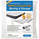 (Queen/Full/Full-XL) Foam Mattress Vacuum Bag for Moving/Storage-Compress Mattress by 80%, Vacuum Seal Mattress Bag, Leakproof & Sealable Vacuum Bag for Mattress, Mattress Storage Bag Includes Straps