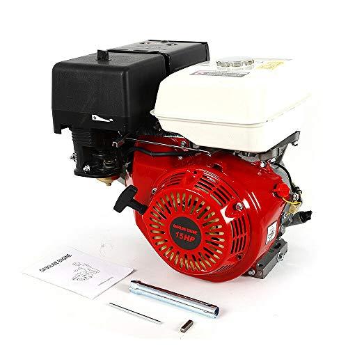 Motor de gasolina de 4 tiempos Motor industrial de 7.5 hp, con alarma de aceite de retroceso consumo de combustible del motor de gasolina, para el motor de reemplazo de la máquina trilladora