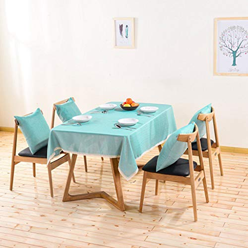 MKWEY Tablecloth Cotton Linen Rectangle 20X20 in, Table Cloth Sets for Dining Room, Table Cover Oblong, Easy Care, for Kitchen Dining Table Top Decoration