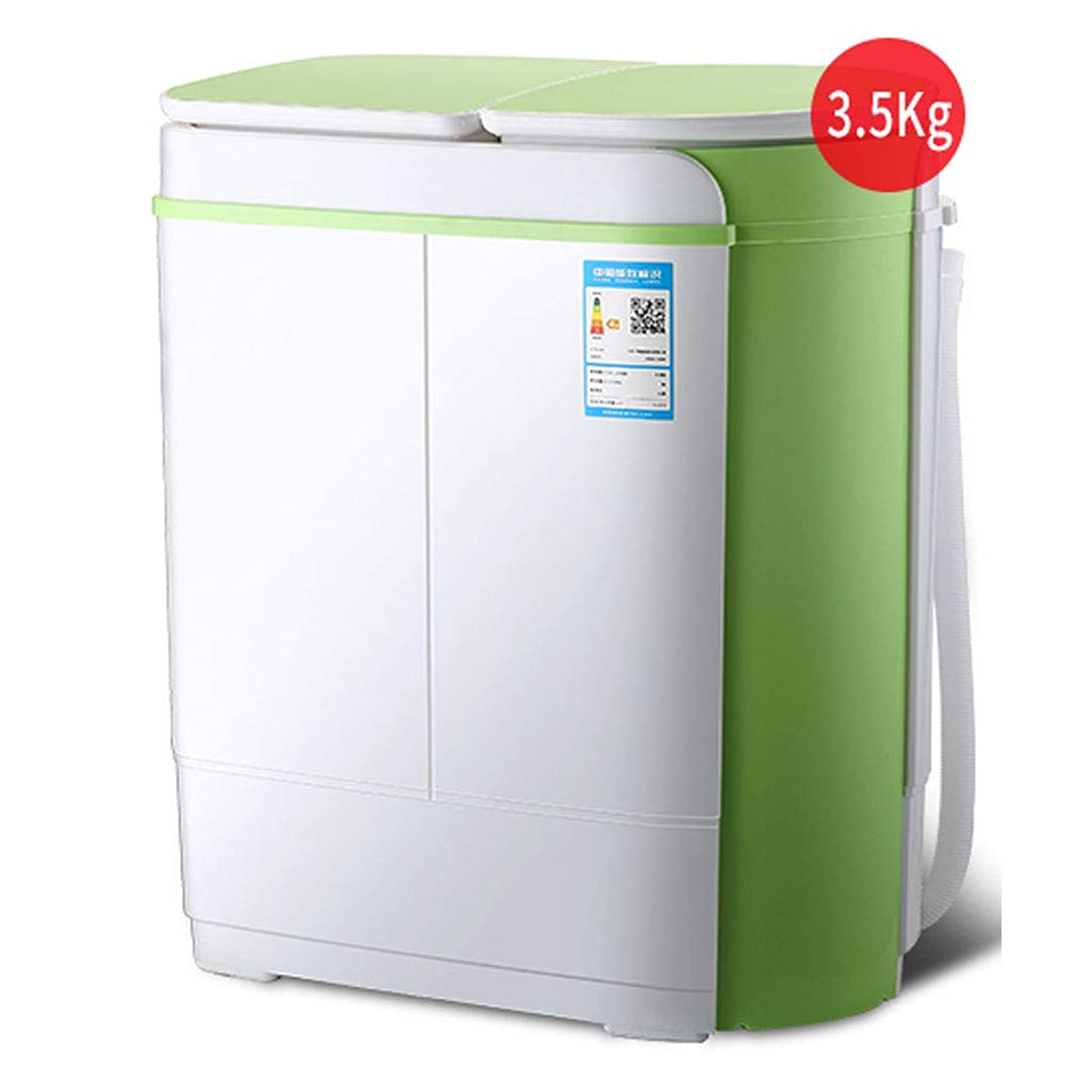 製作シビック不均一小型洗濯機小型ダブルタブポータブル洗濯機および回転式乾燥機2.5KG / 5.5Lbs洗濯能力ブルーレイUV静菌アパート寮コンパクトで耐久性