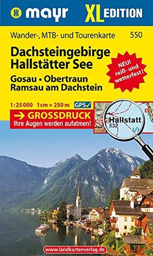 Dachsteingebirge, Hallstätter See XL: Wander-, MTB- und Tourenkarte 1:25000 GPS-genau (Mayr Wanderkarten)