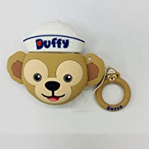 ICI-Rencontrer 3D Vivid Distinctive White Hat Monkey Cartoon Animal Airpods Case Kids Girls Women Cute AirPods Accessories Wireless Earphone Soft Silicone Shockproof Protector Decoration Yellow