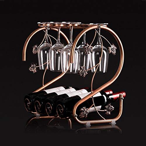 OYYO Weinregal für 5 Flaschen Freistehendes Metall - Tragbar. Modernes & minimalistisches Design für Weinliebhaber