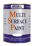 Pintura multisuperficie de Bedec, suave, mate, gris, BEDE2KCR001/29