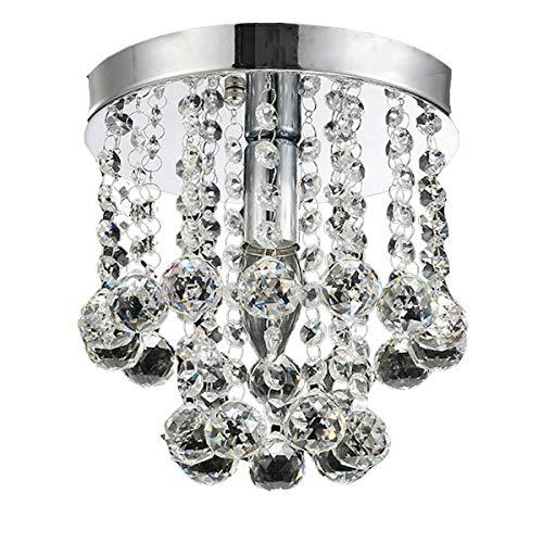 AFSEMOS Lámpara del Techo, Candelabro de cristal Luces de Techo para la sala de estar, dormitorio, pasillo-Ø15cm