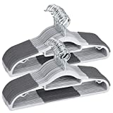 Plastic Hangers 50 Pack Heavy Duty Dry Wet Clothes Hangers with Non-Slip Pads Space Saving 0.2' Thickness Super Lightweight Organizer
