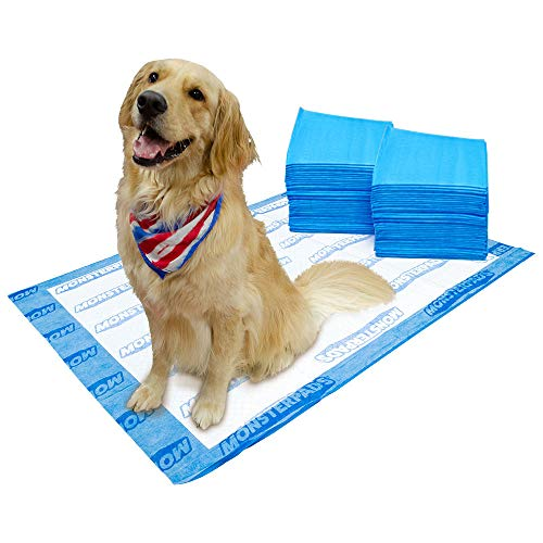OUT! MonsterPads 7-Layer Dog Training Pads, 36'x48' (80ct)