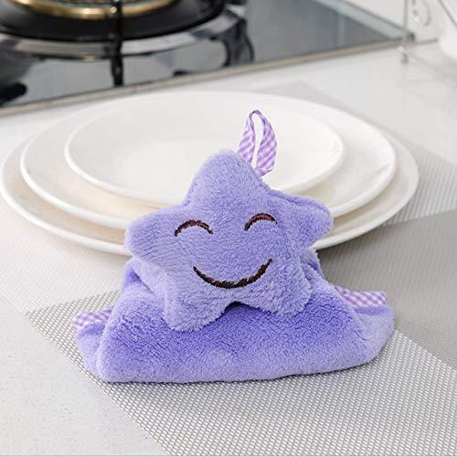 Küchen-Wasser-absorbierendes Pentagram-Tuch Nicht-ölwäsche-Geschirrtuch Starkes absorbierendes Tuch, das Seesternkorallen-Wolltuch hängt