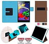 Hülle für Lenovo Tab 2 A8-50 Tasche Cover Case Bumper | in Braun | Testsieger