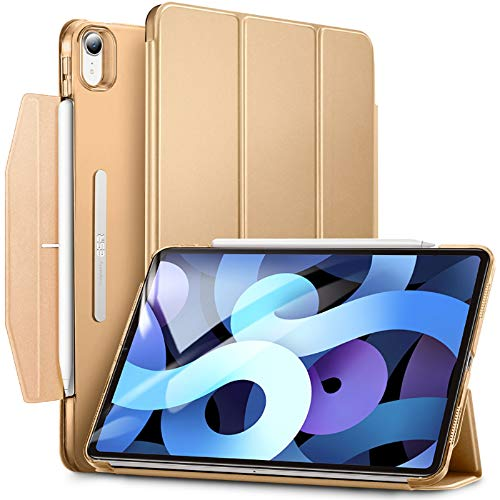 ESR Trifold Case for iPad Air 4 2020 10.9 Inch [Trifold Smart Case] [Auto Sleep/Wake Cover] [Stand Case with Clasp] Ascend Series -Khaki