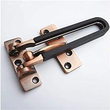 Antique Copper zinklegering Deur van de veiligheid Guard Klink Met Zwarte rubberen stop Swing Bar deur beveiliging Bolt Kl...