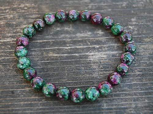 LOVE KUSH JEWELRY Ruby Zoisite Bracelet,8mm Gemstone Beads,Stretch Bracelet,Yoga,Mala,Prayer,Man,Woman,Energy Bracelet,Healing Bracelet,Unisex Bracelet,Gift