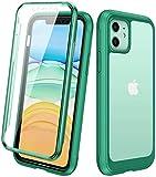 Diaclara Hülle Kompatibel mit iPhone 11 (6.1 Zoll), 360 Grad Bumper Case, Handyhülle Transparent...