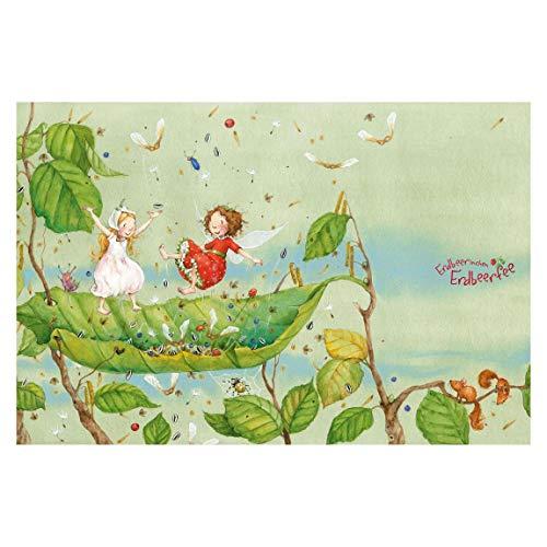 Vliestapete Erdbeerinchen Erdbeerfee, Größe: 190cm x 288cm