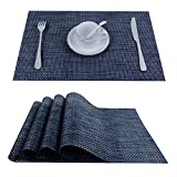 Top Finel Placemats,Plastic Table Mats Set of 8,Heat Resistant Washable Place Mats for Dinner...
