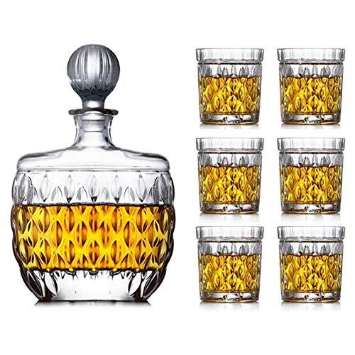 Copas de cóctel, Juego de decantores de whisky para hombres CAJA DE VINO CRISTAL CRISTAL CRISTAL CRISTAL DE VINO DE VINO DE VINO DE VINO DE VINO Decoración sellada Decantador Botella de vino Juego Set