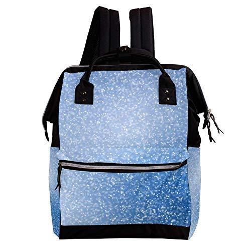 TIZORAX blauwe en witte vonken behang rugzak luiertas casual dagtas schooltas voor reizen camping, grote capaciteit