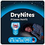 Huggies DryNites Pantalon de Pyjama Garçon 3-5 ans, Lot de 3 X 10