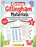 Orton Gillingham Materials. Workbook with 100 activities to improve writing and reading skills in children with dyslexia. Volume 2. 7-9 Years. Full Color Edition.
