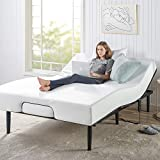 Zinus Green Tea 8 Inch Memory Foam Mattress and Jared Adjustable Bed Frame Set with Remote / Whisper-Quiet Motorized Movement / Ergonomic Positioning for Better Health and Relaxation, Queen
