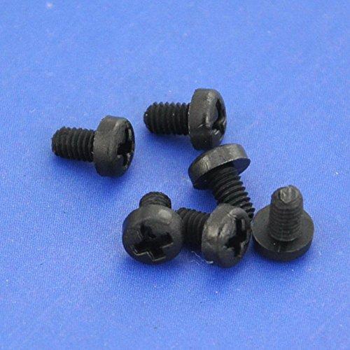 Electronics-Salon 1000pcs M2,5 x 4 mm Vis Phillips pan-header en nylon noir.