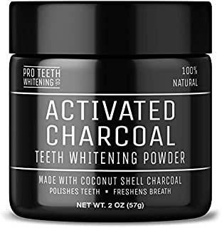 Activated Charcoal Teeth Whitening Powder   Pure Beauty Award Winning Product By Pro Teeth Whitening Co.