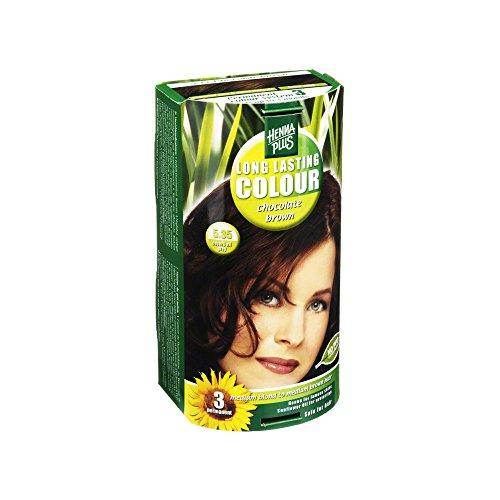 Hennaplus Coloration longue durée Long Lasting Brown 5,35 Chocolat 100 ml