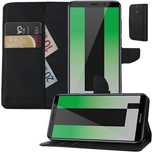 MOELECTRONIX Buch Klapp Tasche Schutz Hülle Wallet Flip Hülle Etui passend für Huawei Mate 10 Lite Dual RNE-L21