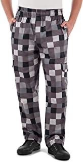 Men's Checkerboard Print Cargo Chef Pant (XS-3X)
