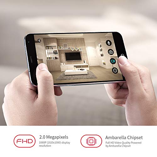 Foscam Z2 1080P 2.4//5Ghz Dual Band Wireless IP Security Camera 4X Optical Zoom