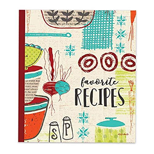 Brownlow Gifts Recipe Binder Set with Plastic Page Protectors and Recipe Cards, Made With Love