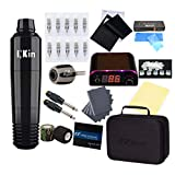 EZTAT2 Complete Tattoo Machine Kit INKin Rotary Pen with Case EZ Revolution Cartridge Needles Adjustable Grip Power Supply Ink Caps for Tattoo Artists