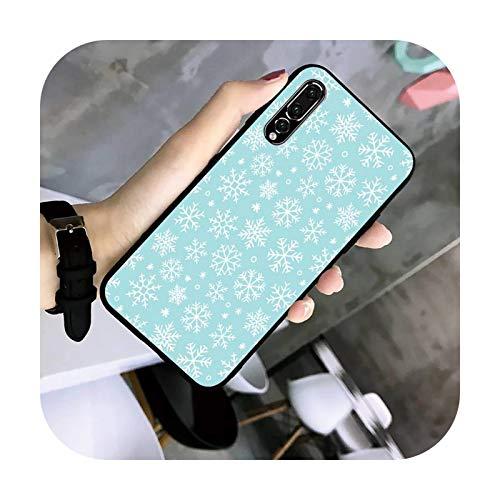 uulalala Navidad copos de nieve teléfono caso TPU para Huawei G7 G8 P7 P8 P9 P10 P20 P30 Lite Mini Pro P Smart Plus-a9-para P30lite